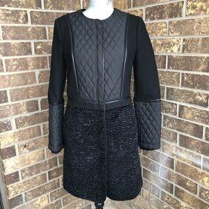 BCBG Black Wool Coat